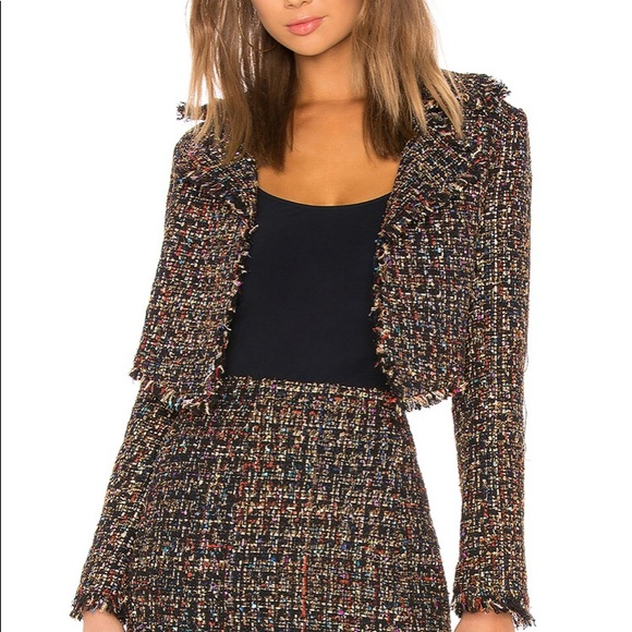 Lovers + Friends Jackets & Blazers - Lovers + Friends Paola Cropped Jacket, Size Large